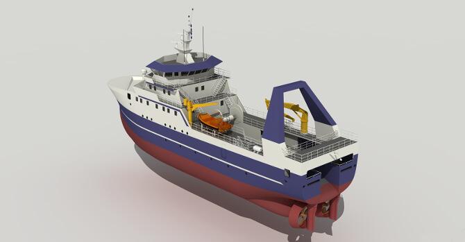 Design of Freezing Trawler – Factory Trawler