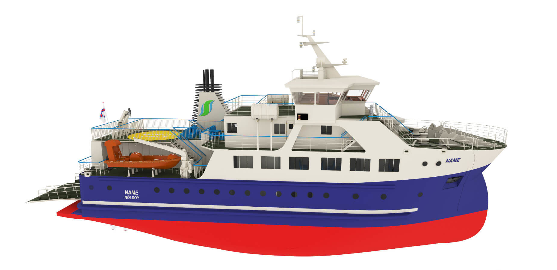 Third generation domestic ferry for service between Nólsoy