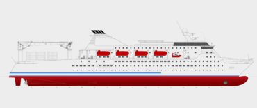 Customized 1200 Passenger Cargo vessel by KNUD E. HANSEN