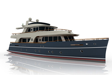 24m Explorer type motor yacht for Per Blinkenberg
