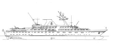 Conceptual Design of 118 m Private Yacht