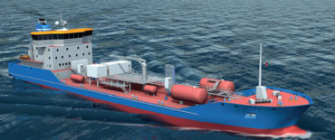 Conceptual and Tender Design of 6100 DWT 6900 M3 Chemical Tanker IMO II