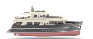 Design of 24 m Explorer type motor yachts by KNUD E. HANSEN