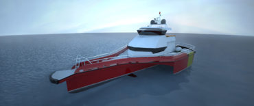 Offshore Maintenanc Transfer Vessel Triwind by KNUD E. HANSEN