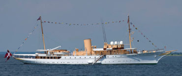 The Danish Majestys Yacht 80m DESIGN MY Dannebrog by Knud E. Hansen
