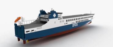 CSC Jinling Shipyard DFDS RoRo design by KNUD E. HANSEN