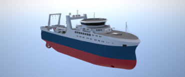 Ocean factory trawler designed by KNUD E. HANSEN front.high res